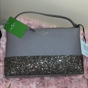 Kate Spade Greta court Ramsey in blingy gray nwt